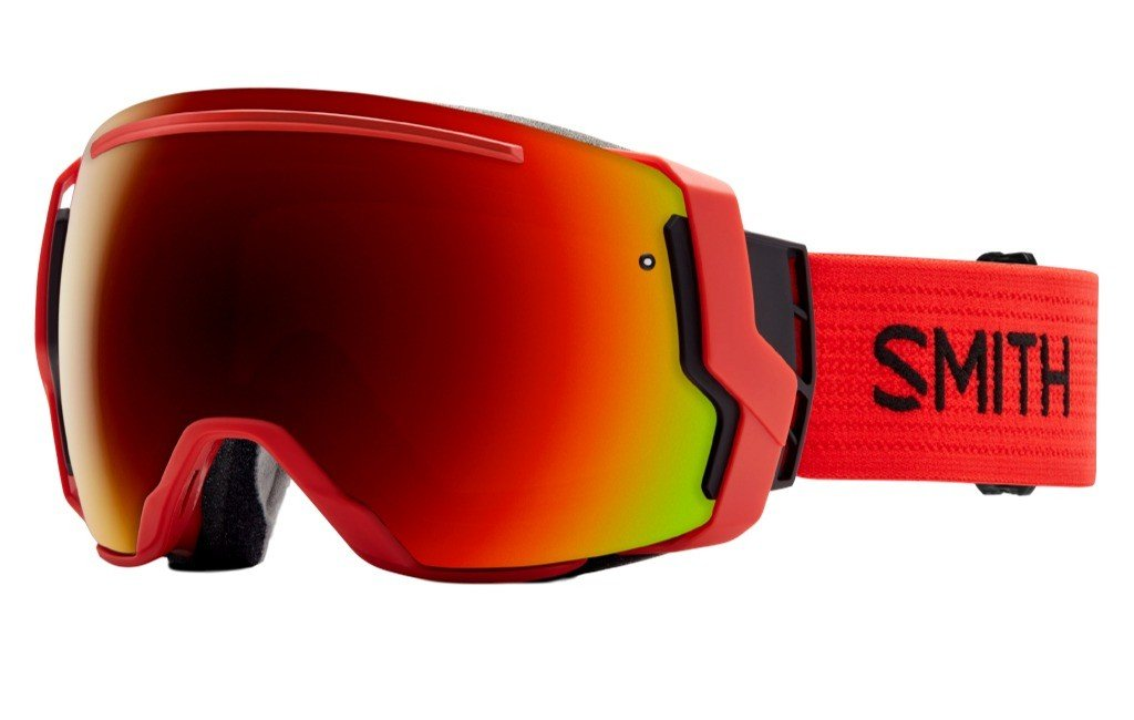 Smith Optics I/O 7 Adult Interchangable Series Snocross Snowmobile Goggles Eyewear - Fire/Red Sol X Mirror / Medium