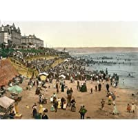 Bridlington Beach Scene - English Photochrome - EPC078 Matte Paper A1 Size