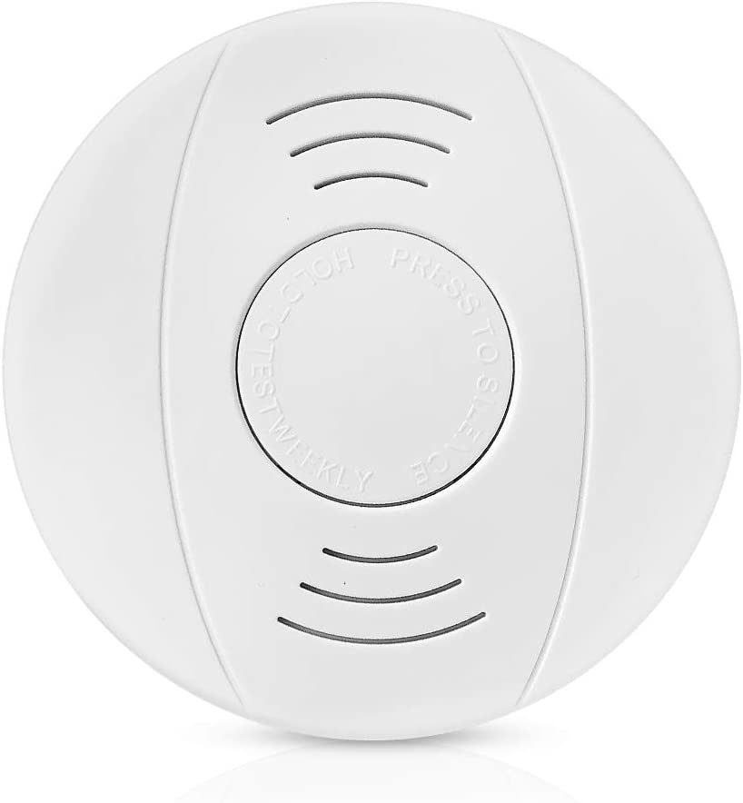 10 Year Battery Operated Combination Photoelectric Smoke and Carbon Monoxide Detector Alarm, Protect Your Home from Fire and Gas Leaks