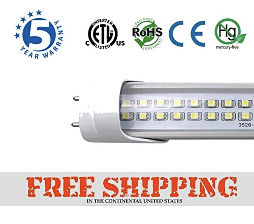 BALLAST COMPATIBLE T8 4ft 22w 2row led tube 3000 lumens 6500K CLEAR COVER (Led Tube)