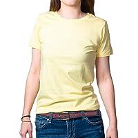 (All Weare) Tシャツ レディース 半袖 無地 クルーネック インナー 5色 綿100% (オーガニックコットン100%)