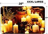 Liili Large Table Mat Non-Slip Natural Rubber Desk Pads IMAGE ID: 22331954 Luxury ayurvedic spa massage still life