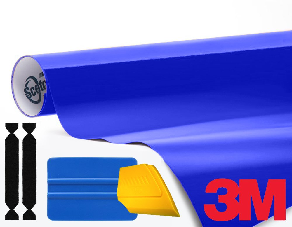 3M 1080 Gloss Cosmic Blue Air-Release Vinyl Wrap Roll Including Toolkit (50ft x 5ft)