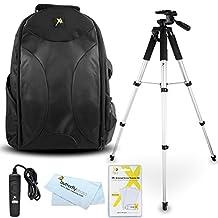 Tripod Accessory Bundle Kit For Nikon Df, D5300, D3300, D5200 D3200 D3100 D5100 D7100 D600 D610 Digital SLR Camera Includes 57 Inch Pro Tripod + Remote Shutter Release + Deluxe BackPack Case + More