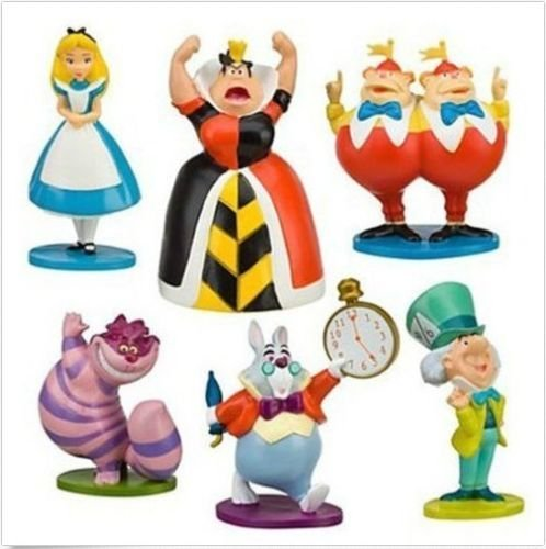 - gg MINI aLICE IN wONDERLAND PVC Cake Toppers Figure Toy 6pcs a set