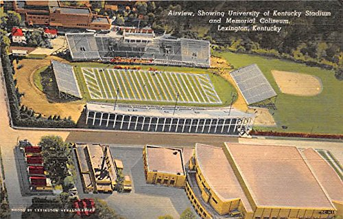 Airiview, University of Kentucky Stadium and Memoria Coliseum Lexington, Kentucky, KY, USA Old Vintage Football Postcard Post Card