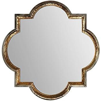 Amazon Com Uttermost Prisca Silver Mirror Small Home