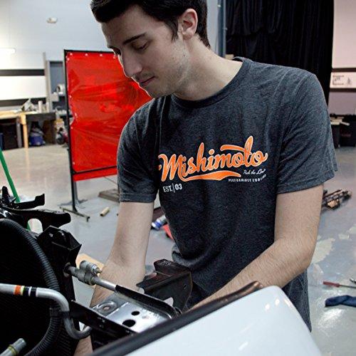 Small MMAPL-SCRIPT-GYS Gray Mishimoto Mens Athletic Script T-Shirt
