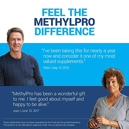 MethylPro L-Methylfolate 5 mg + B-Complex - Active Folate for Energy + Mood Support with Methyl B12 + B6 as P-5-P (90 Capsules) by methylpro (Image #4)