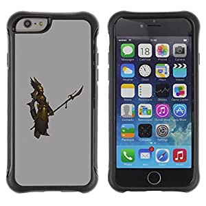 Be-Star Unique Pattern Anti-Skid Hybrid Impact Shockproof Case Cover For Apple iPhone 6(4.7 inches) ( Warrior Gold Bronze Grey Swordsman ) Kimberly Kurzendoerfer