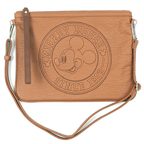 ililily Disney Mickey Maus Stickerei Kreuz Körper Mini klassischer Stil Schulter Tasche Caramel deUGVeQCRn
