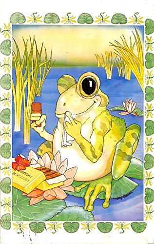 Frogs North Shore Animal League, Frog Eating Chocolate 1998