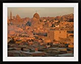 GreatBIGCanvas ''Glorious time to capture this side of Islamic Cairo bathed in soft glow of sunset amber.'' Photographic Print with Black Frame, 36'' x 27''