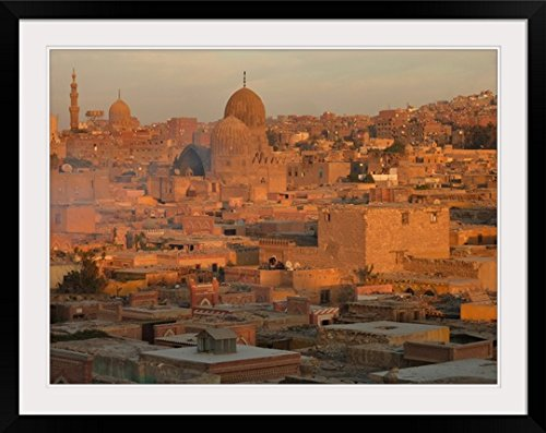 GreatBIGCanvas ''Glorious time to capture this side of Islamic Cairo bathed in soft glow of sunset amber.'' Photographic Print with Black Frame, 36'' x 27'' by greatBIGcanvas