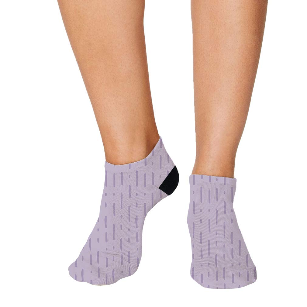 Purple Pitter Pattern #2 Men-Women Adult Ankle Socks Crazy Novelty Socks