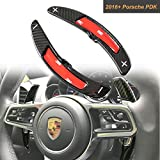 Carbon Fiber Steering Wheel Paddle Shifter Extensions PDK For Porsche Cayenne Macan Panamera Boxster GT3 911 2016-17