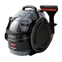 BISSELL SpotClean Professional compact, portable carpet cleaner combines powerful vacuum suction, scrubbing action, and cleaning solution for professional cleaning results in removing stubborn dirt and tough stains. It is designed to easily c...
