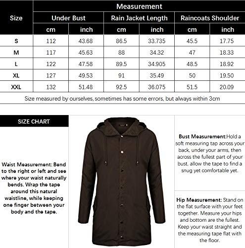 Fisoul Raincoats Waterproof Lightweight Active Long