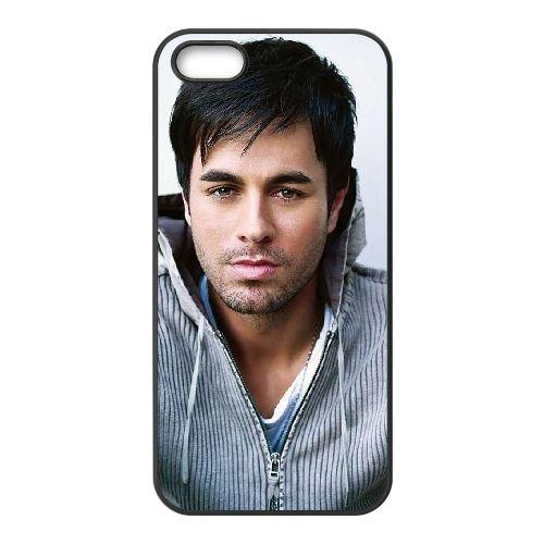 Enrique Iglesias 005 coque iPhone 5 5S cellulaire cas coque de téléphone cas téléphone cellulaire noir couvercle EOKXLLNCD23569