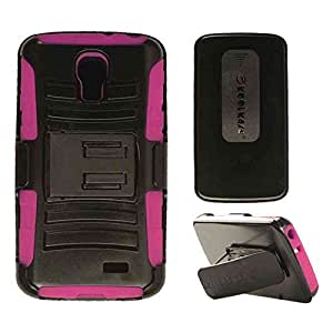 Cell Armor Holster Combo Case For LG F70 Hybrid Cover Swivel Belt Clip Kick Stand (Purple, Black) by Maris's Diary