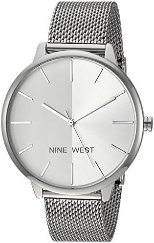 Nine West Ladies NW / 1981 Sunray Dial Mesh bracelet watch