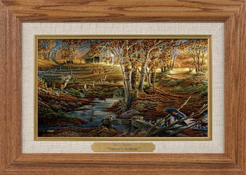 Nature's Sentinel Framed Oak Collage by Terry Redlin