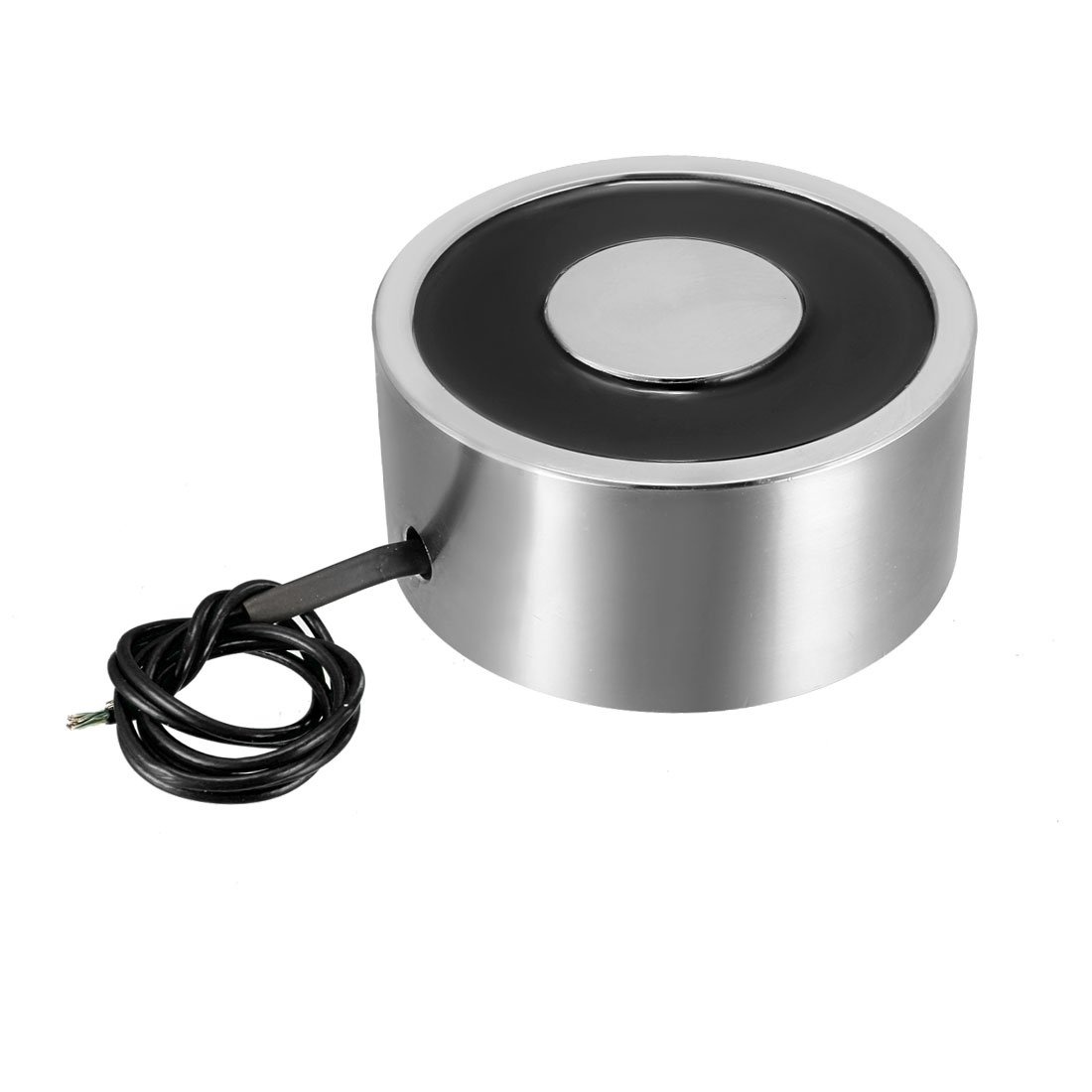uxcell DC12V 100KG Lift Holding Electromagnet Sucking Disc Electric Lifting Magnet Solenoid 80mm x 38mm