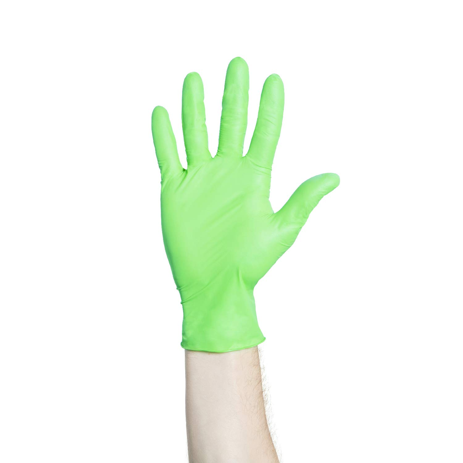 Halyard Flexaprene Green Gloves, Industrial, Food Prep, Cleaning, Powder-Free, 9.5 inch Length, X-Small, 44792 (Box of 200)