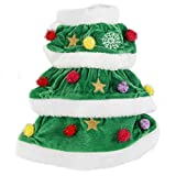 PAWZ Road Christmas Dog Costume Cat Winter Clothing Puppy Warm Sweater Christmas Tree Style - Vintage Pet Clothes Ultra Warm and Cute S