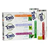 adult fruit toothpaste - Tom's of Maine Toothpaste Variety Pack of 5 - Wicked Fresh Spearmint Ice, Cavity Protection Peppermint, Whole Care Spearmint, Antiplaque & Whitening Peppermint, Propolis & Myrrh