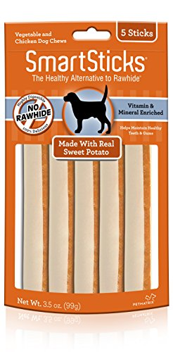 (Smartsticks Rawhide-Free Dog Chew, Vegetable And Chicken Dog Chews)
