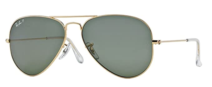 Amazon.com: Ray-Ban RB3025 Aviator - Gafas de sol de metal ...
