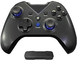 Controlador sem fio YOOXI para Xbox One, Gamepad sem fio para PC com adaptador sem fio 2.4G (Alcance ≤ 10m), compatível com X
