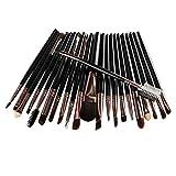 VESNIBA 22Pcs/Set Makeup Brush Tools Make-up Toiletry Kit Wool Make Up Brush Set (Black)