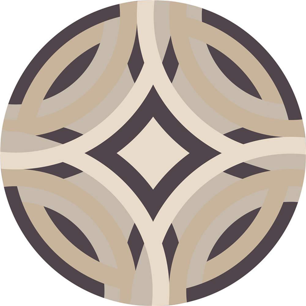 60cm, Ans Morbuy Tapis Rond Lavable en Machine La g/éom/étrie Interieur Anti Slip Chambre /à Coucher Salon Tapis dEntr/ée Absorbant Antid/érapant