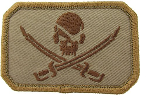 Pirate Skull Morale Patch (Desert (Tan))