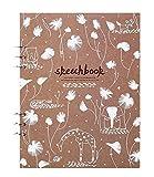 Blank Paper Sketchbook Loose Binder Paper Loose Leaf Blank 110g Sketch Paper,E