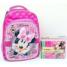 """Disney Minnie Mouse 3D Backpack 15.5"""" + Minnie Mouse Autograph Book Set BUNDLED!"""