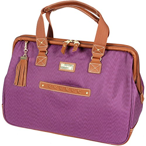 Steve Madden Global Wire Frame Purple Satchel