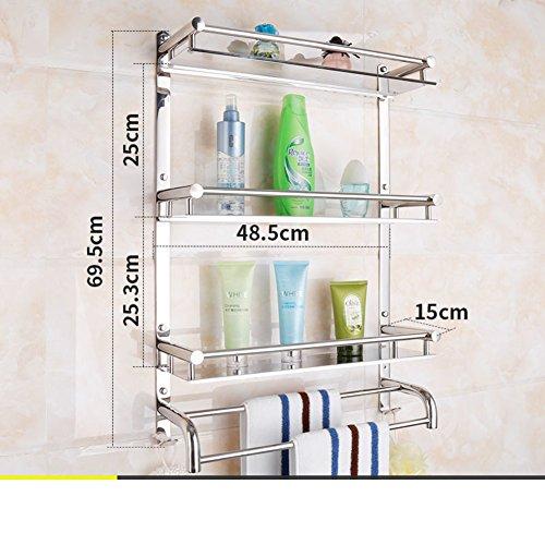 New Stainless Steel Bathroom Shower Rack/towel Rack/ Bathroom Wall Mounted  Bathroom Accessories