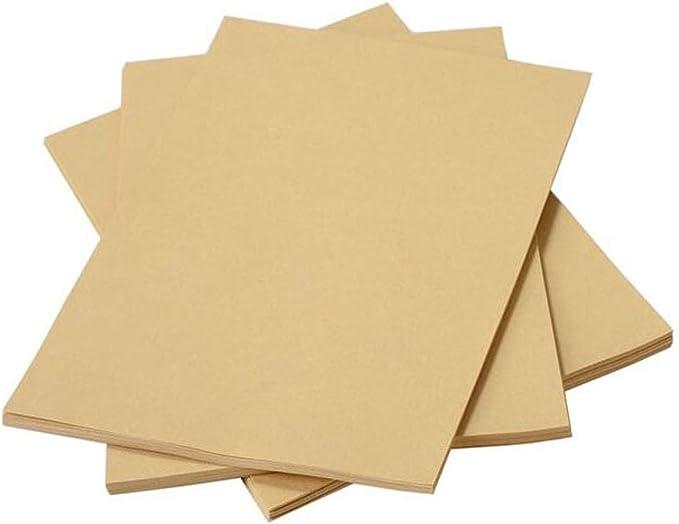 Liwut - Cartulina de papel kraft natural reciclado, A4, 80 g/m² ...