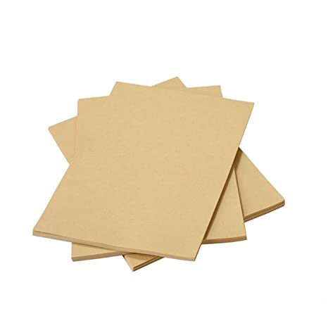 Amazon.com: liwute papel Kraft Natural reciclado tarjeta A4 ...