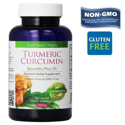 51KUko4ZYeL - Turmeric Curcumin Capsules | 100% NON-GMO Gluten-FREE | Made in USA |