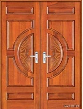 Custom Made doble exterior frontal entrada doble de madera puerta de cristal puertas – Ito: Amazon.es: Bricolaje y herramientas