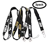 Lanyard Keychain Holder Keychain Key Chain Black Lanyard Clip with Webbing Strap (3pack/B): more info