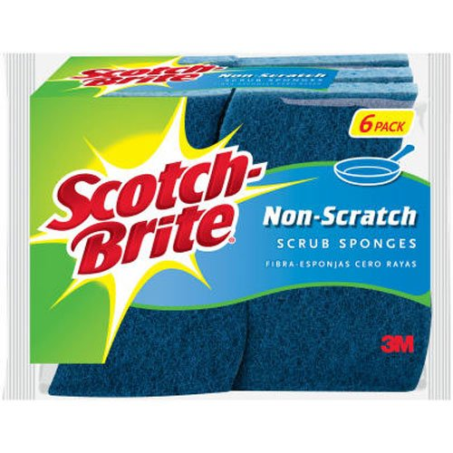 Scotch-brite Non-scratch Scrub Sponge 526, 6-Count (Pack of 2)