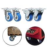 LSJGG Caster Wheels 4 Pack 360 Degree Swivel Caster