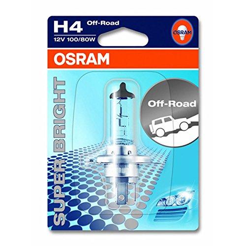 4 opinioni per OSRAM OFF-ROAD Super Bright H4 Lampada alogena per proiettori 62203-01B- Blister