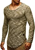 LEIF NELSON mens pullover long sleeve t-shirt sweater sweatshirt hoodie slim fit