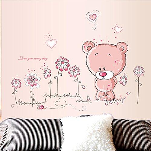 Wandtattoo Wandsticker Aufkleber Tiere Kinder Baby Kinderzimmer Wald Baum